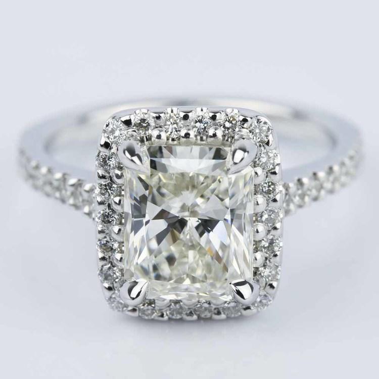 Halo-Radiant-Diamond-Engagement-Ring-White-Gold-1