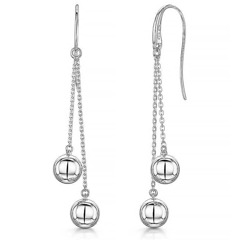 112 Silver Drop Earrings