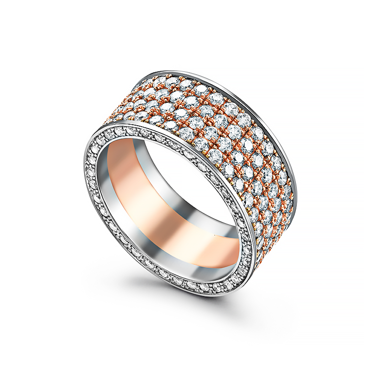257a18ct-Pink-gold-and-platinum-ring