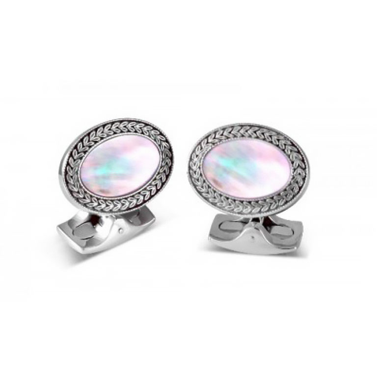 264Oval Cufflinks with Mother of Pearl